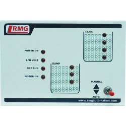 Fully Automatic Water Level Controller With Four Level Indication for Tank and Three Level Indication for Sump