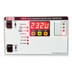Digital Fully Automatic Water Level Controller With Low/High Voltage, Over Load, Dry Run protection with Timer - Tank Only