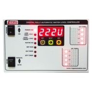 Digital Fully Automatic Water Level Controller With Low/High Voltage, Over Load, Dry Run protection with Timer - Tank & Sump