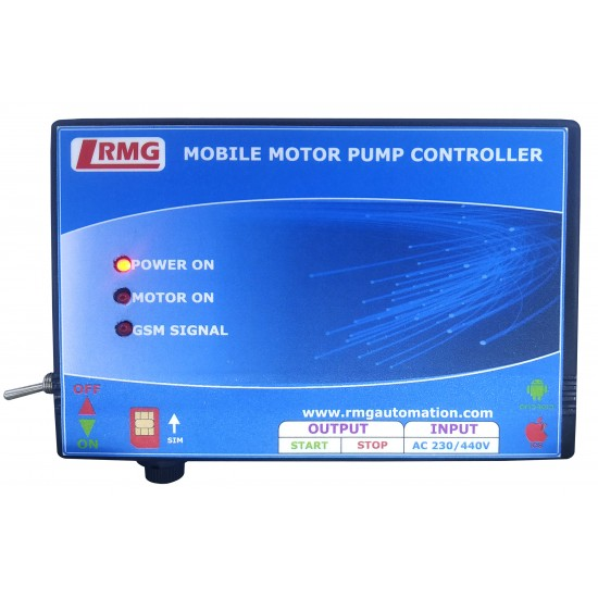 Single / Three Phase GSM Motor Pump controller (Mobile Motor Starter)